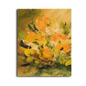 Zambetul florilor pictura in ulei
